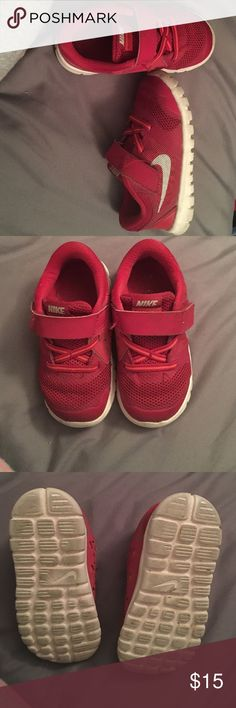 Nike Euc Red and Silver children size 7 Nike Shoes Sneakers