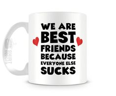 Cute Mug 11oz Tea Cup We Are Best Friends Mug by ShirtBurger
