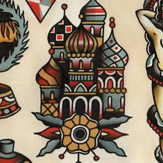 #traditional #tattoo #building #Moscow #kremlin
