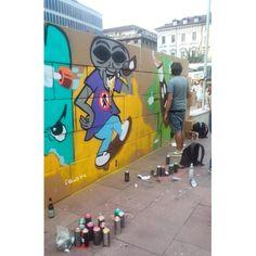 Graffiti alla festa della birra 2014