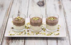 Hvid og mørk chokolademousse | Smuk dessert