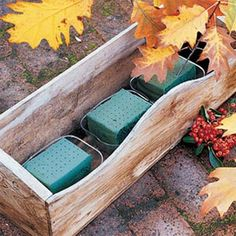 Decorate with fall leaves | Window box how-to | I have the perfect box for this.