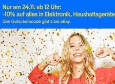 Ebay: Zehn Prozent Rabatt auf auf alles in Elektronik, Haushalt & Heimwerker https://www.discountfan.de/artikel/technik_und_haushalt/ebay-zehn-prozent-rabatt-auf-auf-alles-in-elektronik-haushalt-heimwerker.php Bisher waren ausgerechnet Elektronik-Artikel bei den Rabatt-Aktionen von Ebay ausgeschlossen. Für sieben Stunden ist das nun anders: Ab sofort und nur bis 19:59 Uhr gibt es einen Rabatt von zehn Prozent auf alles in Elektronik, Haushalt & Heimwerker. Ebay: Zehn P