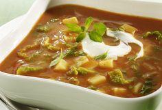 Tomaten-Kartoffel-Suppe mit Wirsing