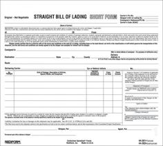 Adams Business Forms  Part Bill Of Lading Short Form Set Of