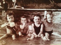 Markoe boys start early on the shores of white bear lake!!!! Dick, Jack, Jaime, and Tee