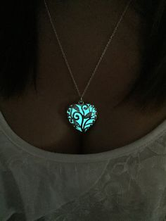 USA made and READY 2 SHIP! The Heart of the Magical Frozen Forest Steampunk Glow Sterling Silver Plated Necklace Winter Whimsical Fairy by OurDrinkingBuddy on Etsy https://www.etsy.com/listing/206436650/usa-made-and-ready-2-ship-the-heart-of