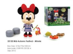 """Disney Play Buddies 3.5"""" Play set - Mid Autumn Festival - Minnie [33130] by Dragon. $25.99. Play Buddies Collection comprises different Disney characters in a setting that brings customers back to their nostalgic Hong Kong childhood.  Mid-Autumn Festival (???) is a popular lunar harvest festival celebrated in Asia. Hong Kong celebrate the occasion by carrying brightly lit lanterns and eat mooncakes during the month.  People can now relive their childhood memories with the..."""