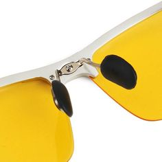 UV400 Men Polarized Sunglasses Yellow Lens Night VISION Driving Fishing Cycling glasses at Banggood