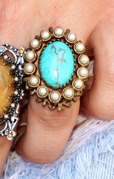 TURQUOISE ESTATE RING - Junk GYpSy co.