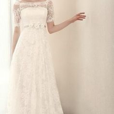 modest wedding dresses with short sleeves
