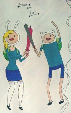 Fiona and Finn fan art