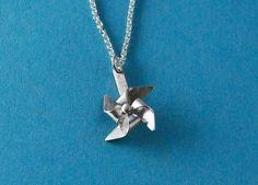 Tiny Pinwheel Necklace