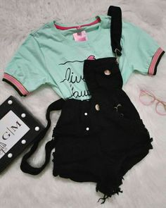 Shop the latest arrivals at SHEIN, always stay ahead of the fashion trends. Teenage Girl Outfits, Girls Fashion Clothes, Teen Fashion Outfits, Teenager Outfits, Mode Outfits, Retro Outfits, Outfits For Teens, Cute Swag Outfits, Cute Comfy Outfits