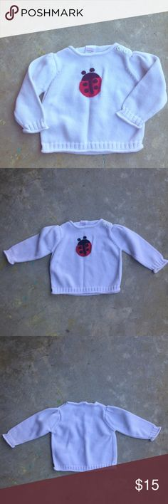 Gymboree Sweater with Ladybug Cute as can be! I don't see any flaws. EUC. Would be precious with some black leggings and boots! I love offers and almost always accept!! Gymboree Shirts & Tops Sweaters