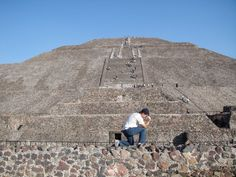 Tebowing on the Steps of an Ancient South American Pyramid