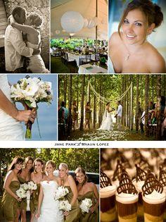 Elegant forest wedding