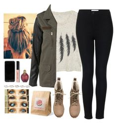 """""""Description!"""" by noellexox ❤ liked on Polyvore featuring Off-White, Topshop, H&M, Bobbi Brown Cosmetics and Henson"""