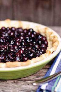 Lemon Kefir Blueberry Pie