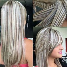 Great dimension and I love her bangs! Long Gray Hair, Silver Grey Hair, Types Of Hair Color, Cool Hair Color, Work Hairstyles, Haircuts For Long Hair, Frosted Hair, Gray Hair Highlights, Dramatic Hair