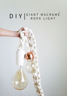 DIY Giant Macrame Rope Light Tutorial