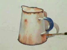 Part 2, Watercolour demo painting a rusty jug