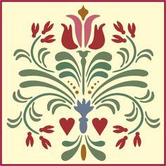 Rosemaling ,rosemaling stencil pattern 14 the artful stencil