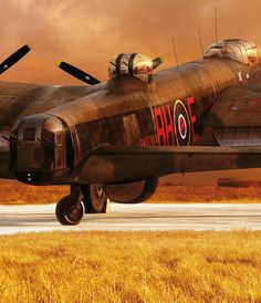 A Terrifying Beauty – the Art of Piotr Forkasiewicz> Vintage Wings of Canada - Aircraft design Military Jets, Military Aircraft, Vintage Design, Vintage Ideas, Vintage Photos, Lancaster Bomber, Aircraft Painting, Air Festival, Ww2 Planes