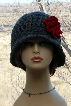 Check out this item in my Etsy shop https://www.etsy.com/listing/568056642/womens-crochet-hat-flapper-brim-hat