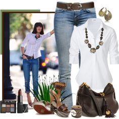 How to wear a white button up - Polyvore