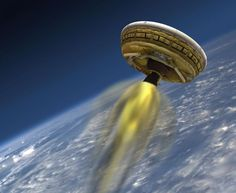 NASA's 'Flying Saucer' Will Test Supersonic Landing From The Edge Of Space | Popular Science: NASA is going to see what it would be like to land a giant flying saucer on Mars by launching an experimental spacecraft here on Earth: the Low Density Supersonic Decelerator (LDSD). The space agency will use a giant weather balloon to carry the LDSD to an altitude of 120,000 feet above Hawaii. There, a rocket booster will shoot the disc up even farther to 180,000 feet, getting it up to supersonic speeds. That's about how fast a lander will be traveling during a descent to Mars. As it's traveling three times the speed of sound, the LDSD's balloon will inflate and start slowing it down. Its supersonic parachute will then deploy, slowing the vehicle down even more until it gently lands in the Pacific Ocean. The parachute didn't work as well as expected during their spacecraft's first test mission, so NASA scientists are hoping for a better result this time around.