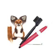 Needle felted fox brooch, DIY pin handmade accessories OOAK – Diy Home Needle Felted Cat, Needle Felting Kits, Needle Felting Tutorials, Needle Felted Animals, Felt Animals, Felt Animal Patterns, Felt Fox, West Highland Terrier, Felt Brooch