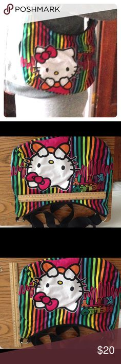 Selling this New w/o Tags Rainbow Hello Kitty Bag! on Poshmark! My username is: rebeccas347. #shopmycloset #poshmark #fashion #shopping #style #forsale #Loungefly #Handbags