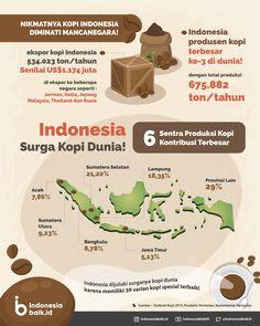 Indonesia Surga Kopi Dunia! | Indonesia Baik Coffee Latte Art, Coffee Milk, Coffee Shop Menu, Coffee Brewing Methods, Dessert Packaging, Coffee Infographic, Health Education, Knowledge, Facts