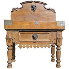 19th Century French Butcher Block from Paris    From a unique collection of antique and modern butcher blocks at https://www.1stdibs.com/furniture/more-furniture-collectibles/butcher-blocks/