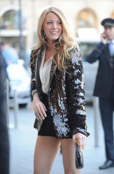 Sequin Blazer...like to have one!
