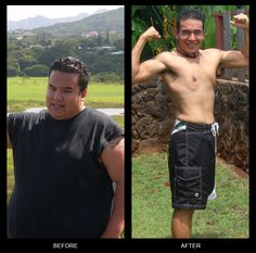 Dallas C. lost 190 pounds with the P90X workout program. Repin if you like his after pic!