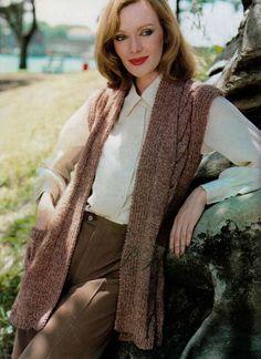 ce4c03ab0c Ladies Knitted Gilet ... Loose Vest ... PDF Knitting Pattern ... Ladies  Cable Vest ... Long Line Sleeveless Jacket ... Digital Download