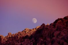 Alabama Hills Moon Rise Photo by Marcela Calay Laurenze — National Geographic Your Shot