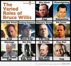 Bruce Willis...he saves the world now and again, too!
