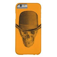Skull Derby Hat Orange iPhone 6 Case