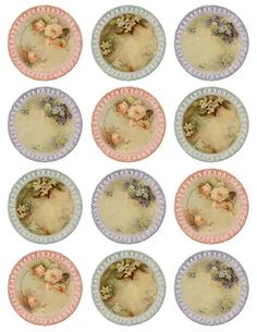 Such fine china...download these pretty tags-labels- click on each and save as