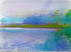 Cool Shades on the Hudson by Gretchen Kelly, painting by artist Gretchen Kelly