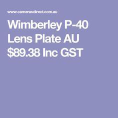 Wimberley P-40 Lens Plate  AU $89.38 Inc GST