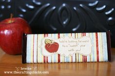 back to school printable - candy wrapper