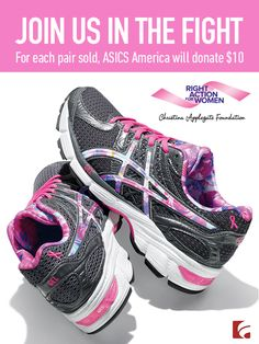 A good pair of shoes can change your life. And sometimes, it can even save your life. To show our support for shoes with a cause, we're teaming up with ASICS and Christina Applegate's Right Action for Women foundation.