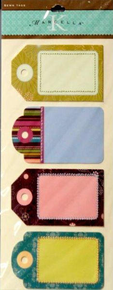 K & Company Marcella K Sheri's Garden Sewn Journal Tags Stickers
