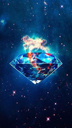 Diamond Galaxy iPhone Wallpaper - iPhone Wallpapers
