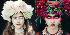 Photographer Ula Kóska in collaboration with makeup artist Beata Bojda has made an incredible Slavic themed photo-shoot that features Polish (and Slavic) folklore elements. In Polish folk culture they used to wear wreaths and bunches of flowers that were a part of both religious and secular cere