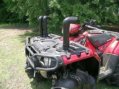 Submarine Snorkel Air Intake Kit for Polaris Sportsman 850 2009-2011 SSP850 $339.95  Tested and proven in the worst conditions found in Louisiana, Mississippi, Texas, and Alabama. All snorkel kits are designed with performance in mind, meaning you will NOT loose power with our snorkel kit. Dyno tests have proven that properly designed snorkel kits increase airflow and give you MORE POWER. Visit us at:    http://stores.ebay.com/Advantage-Distributing  or  www.advantagedistributing.com